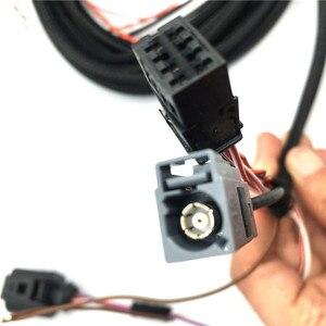 Image 4 - רכב לוגו Flip RVC מבט אחורי מצלמה היפוך מסלול מסלול עמדת קו להתחבר חיווט לרתום עבור פולקסווגן פאסאט B8 CC גולף 7.5