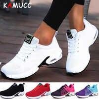 KAMUCC Nuova Piattaforma Delle Signore Scarpe Da Tennis Traspirante Donne casual Scarpe Donna di Modo di Altezza Crescente Scarpe Più Il Formato 35-42