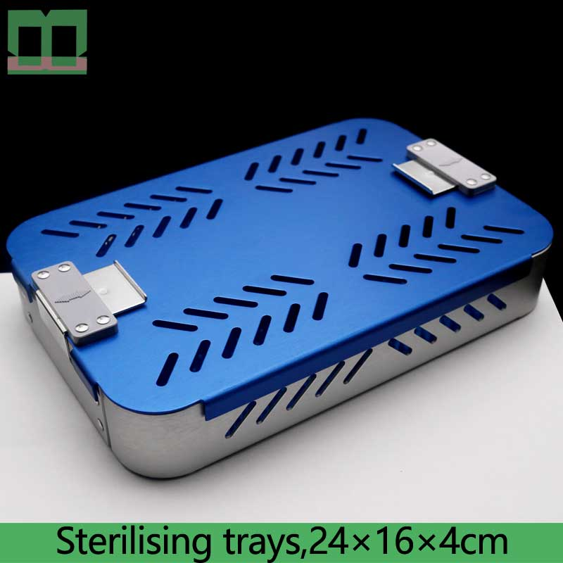 Sterilizing Box High Temperature And High Pressure Monolayer Aluminium Alloy Blue Sterilising Trays Ophthalmology Department