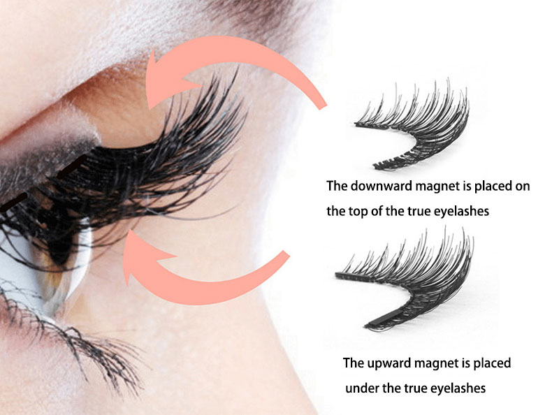MB3K 5 magnetic eyelashes natural with 3D magnet handmade 8PCS magnetic lashes Tweezer Set Mink eye lashes faux cils magnetiqu 5