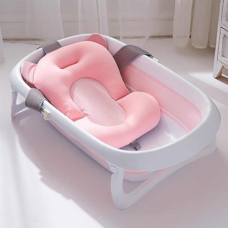 Yeni bebek küveti Pad kaymaz banyo paspası yenidoğan güvenlik güvenlik banyo desteği yastık bebek banyo oturağı duş hediyeler