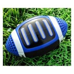 Синие износостойкие ПУ мягкие кожаные регби No.3 Американский футбол детский сад для подростков Обучающие спортивные товары