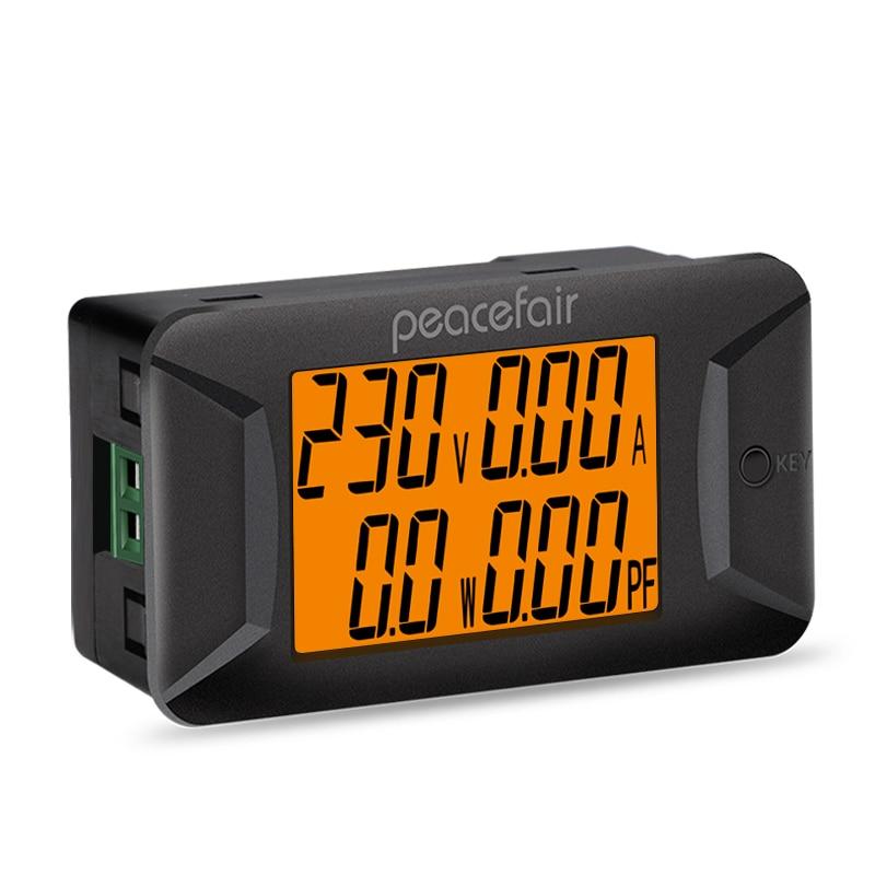 Peacefair PZEM-028 AC 40-400V 100A Digital Multimeter Voltage Current Power Meter Electrical Instrument Power Factor Meter