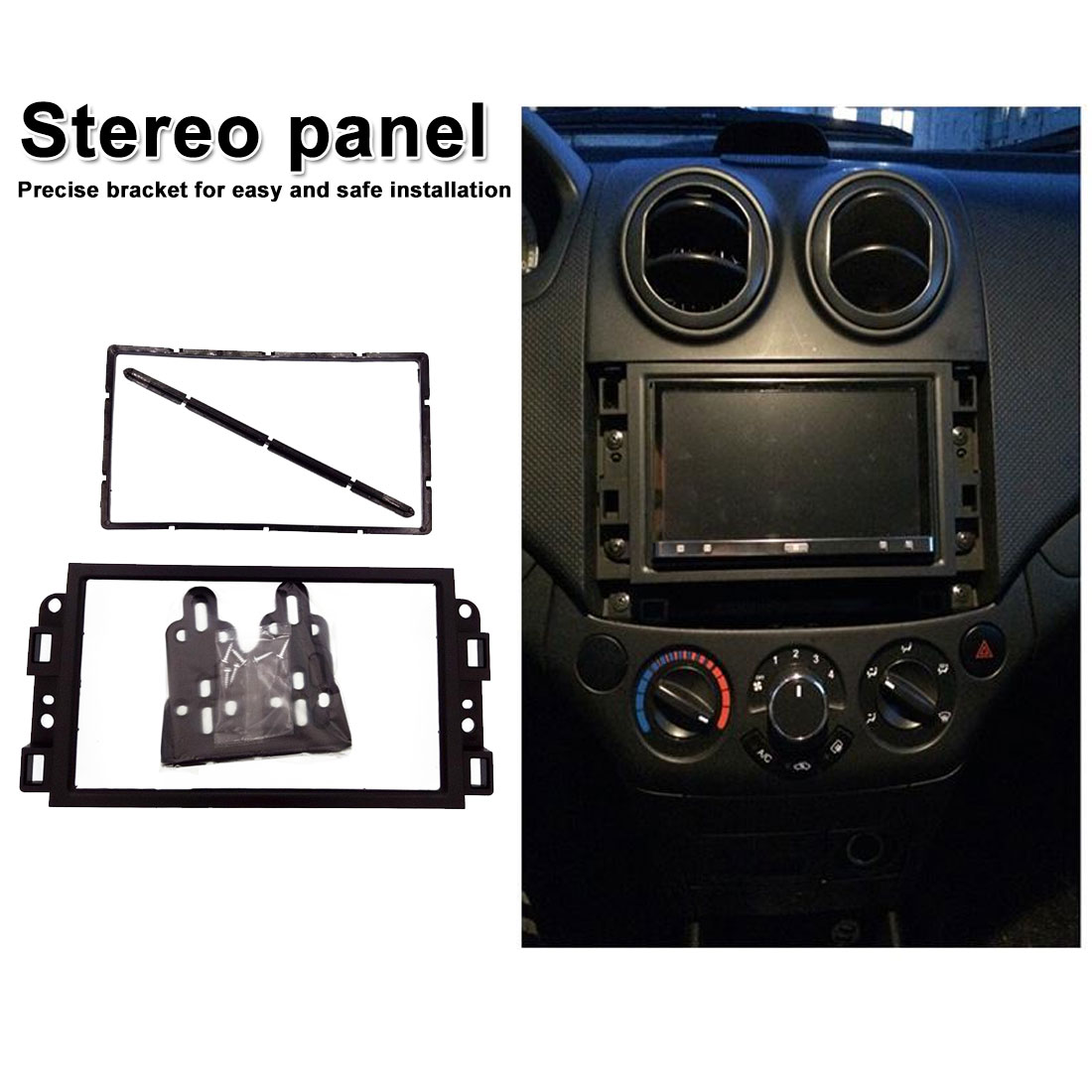 For Chevrolet Lova Captiva Gentra Aveo 2006 2007-2011  audio and video modification frame 2DIN conversion panel bracket