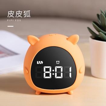 Personalized Night Light Electronic Small Alarm Clock Simple Digital Portable Lazy Alarm Clock Living Room Decoration New II50NZ