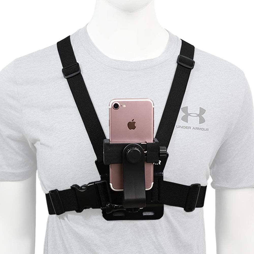 Мобильный телефон камеры с нагрудными ремнями, Harness ремешка Универсальный мобильный телефон клип для экшн-камеры POV Gopro Samsung iPhone и т. д.
