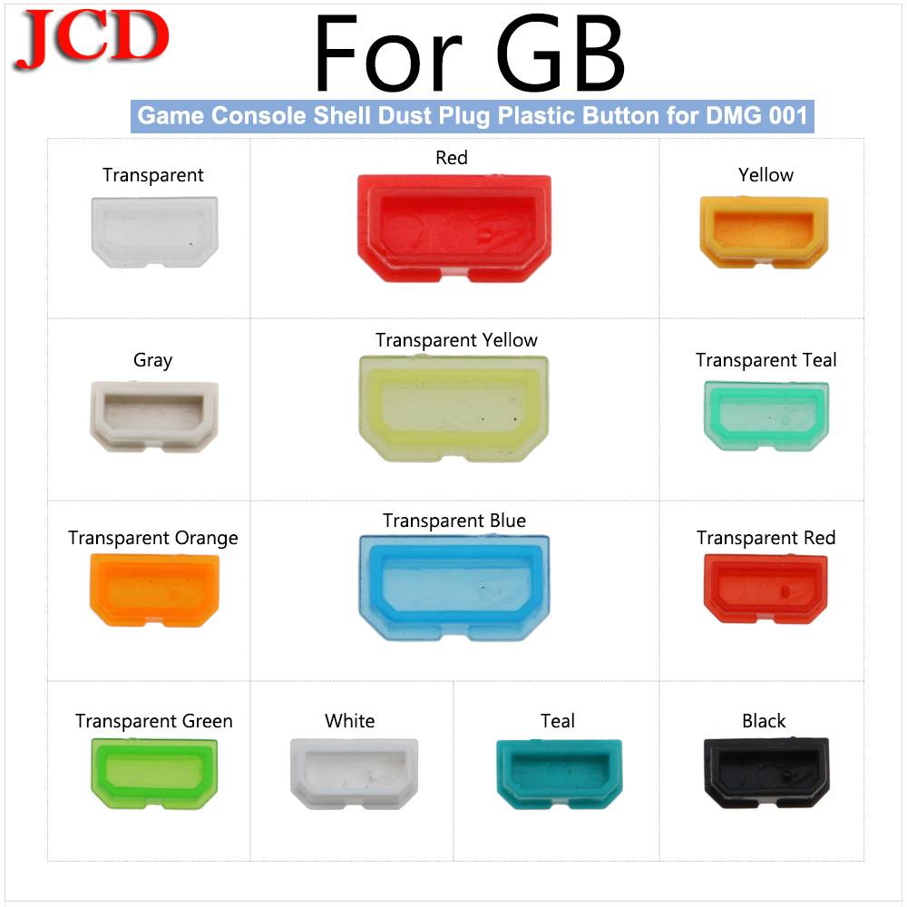 JCD New Multicolor Dust Cover For GameBoy Game Console Shell Dust Plug Plastic Button Multicolor Dust Cover For GB DMG 001