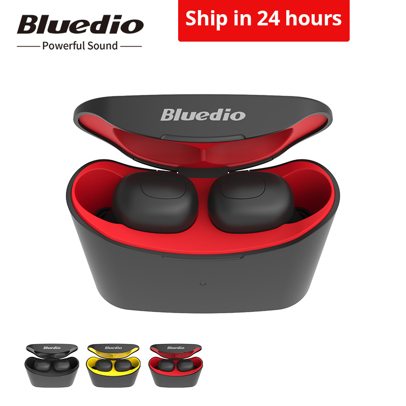 Bluedio T-elf mini TWS earbuds Bluetooth 5.0 Sports Headset Wireless Earphone with charging box for phones Скульптура