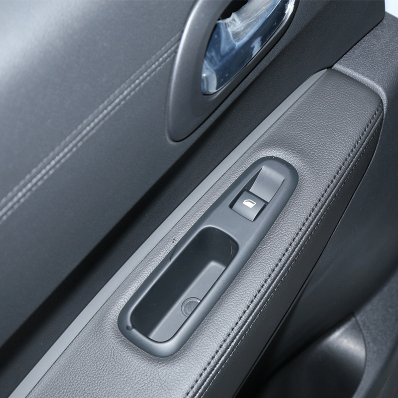 Car Interior Door Armrest Panel Microfiber Leather Cover Sticker Trim For Peugeot 3008 2011 2012 image