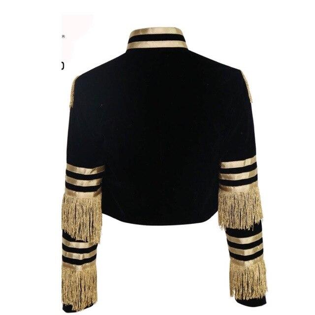 Image 5 - Echoine femmes sexy veste mode décontracté bande dor gland  manteau femme à manches longues militaire doré rayures grande taille  vêtements 3XLVestes de base