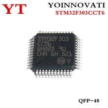 10 قطعة/الوحدة STM32F303CCT6 STM32F303 STM32 F3 IC 32 بت 72MHz 256KB (256K × 8) فلاش 48 LQFP (7x7)