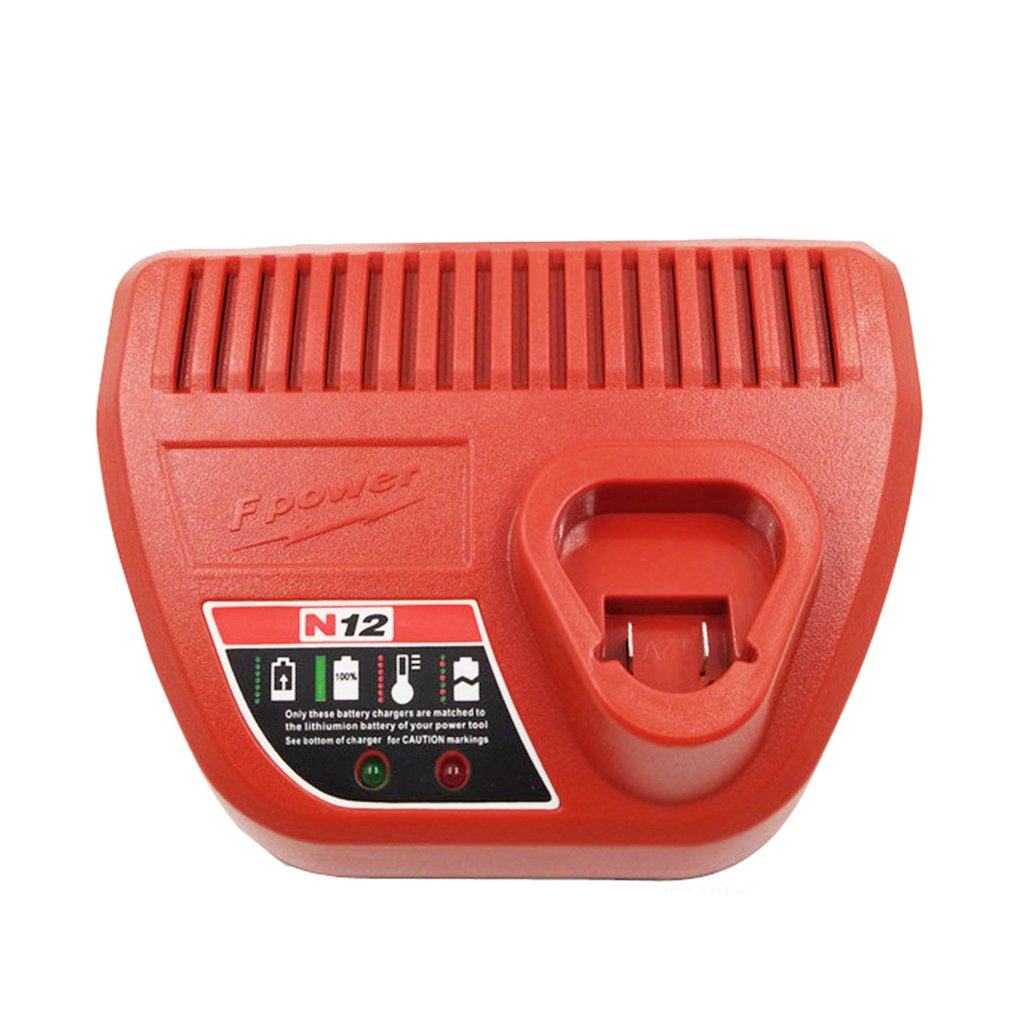 10.8V 12V Li-Ion Replacement Battery Charger for M12 Milwaukee 48-11-2401 48-11-2402 C12 B C12 BX Lithium-Ion Battery
