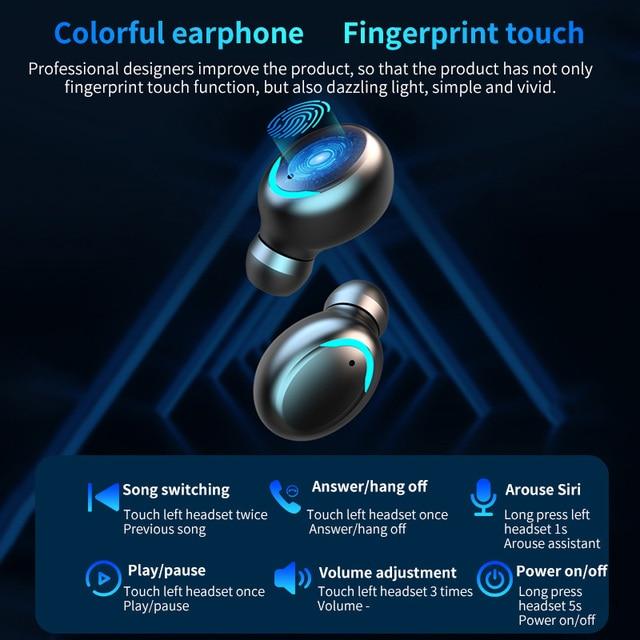 Vufine F9  Bluetooth Earphone V5.0 9D Stereo Wireless Headphones Sport Waterproof Earphones Mini True  Headsets for cellphone 2
