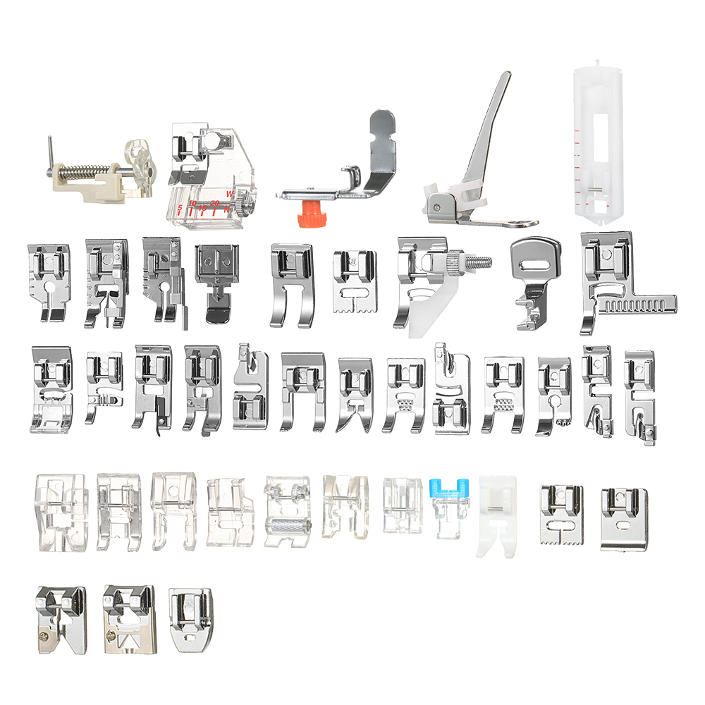 Hot New 42pcs Professional Domestic Sewing Machine Presser Foot for Sewing Machine Accessories for Singer Janome Brother Blind S