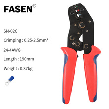 цена на SN-02C Crimping plier Wire Stripper multi tool for dupont/plug /tube/insuated/non insulating/crimping cap/coaxial cable terminal