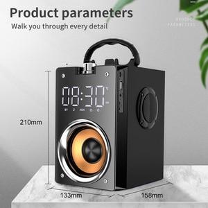Image 2 - Bluetooth hoparlör taşınabilir büyük güç kablosuz 2200mAh Subwoofer ağır bas Stereo müzik çalar lcd ekran FM radyo TF