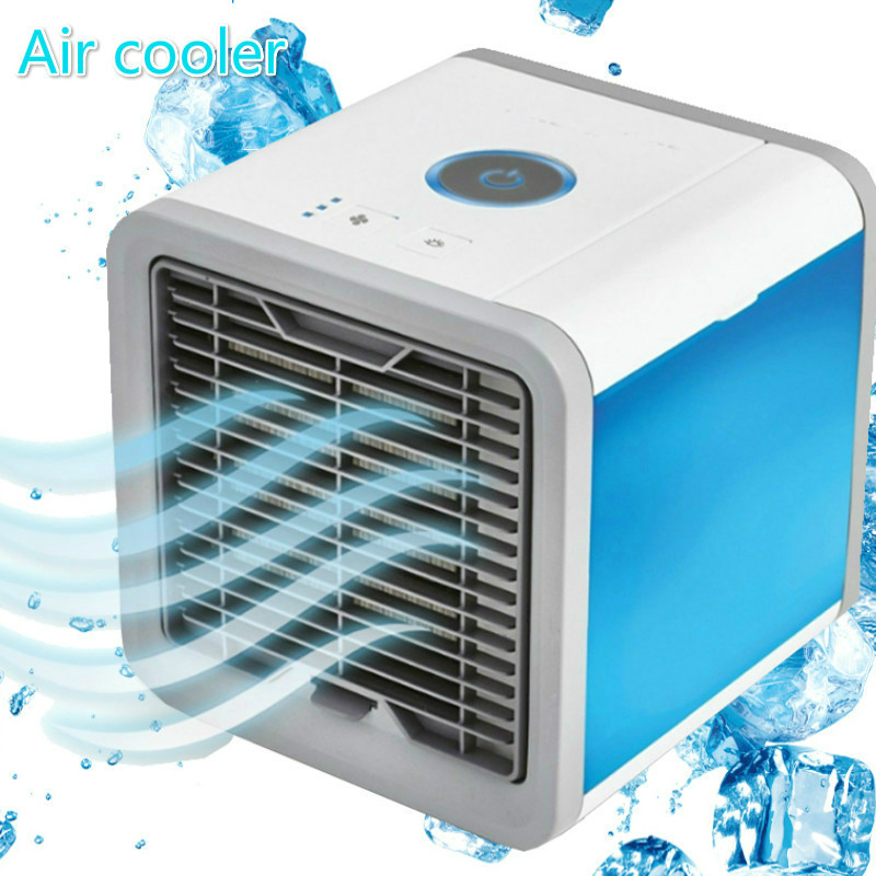 Home Mini Air Conditioner Portable Air Cooler 7 Colors LED USB Cooler Fan Air Cooling Fan Rechargeable Fan For Office Room