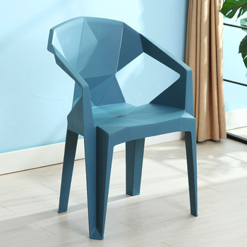 Plastic Chair Thickening Modern Minimalist Adult Stool Backrest Stall Plastic Dinette Chair Home