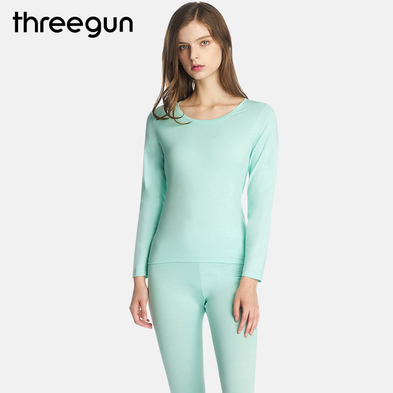 THREEGUN Modal Women Thermal Underwear Sets Feminino Thermo Underwear Warm Long Johns Comfort Ropa Mujer Invierno Top Bottom