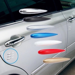 12 шт./лот, защитная накладка на края двери автомобиля, Стайлинг автомобиля, защитная лента для бампера, защита от царапин, красная накладка н...