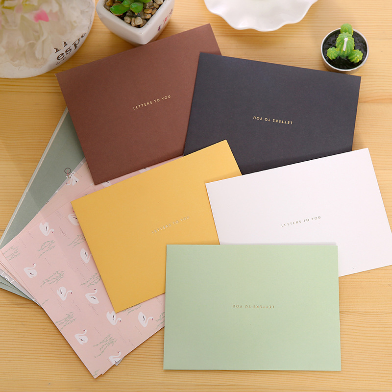 P146C South Korea Creative Hipster Graduation Message Writing Paper Envelop Package Cute Love Letter Confession Writing Paper En