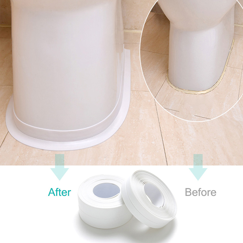 New 2mx22mm Windows Bath Tape Sealing Strips Pvc Kitchen Waterproof Wall Sticker Self-adhesive Seam Toilet Corner Seal Strip