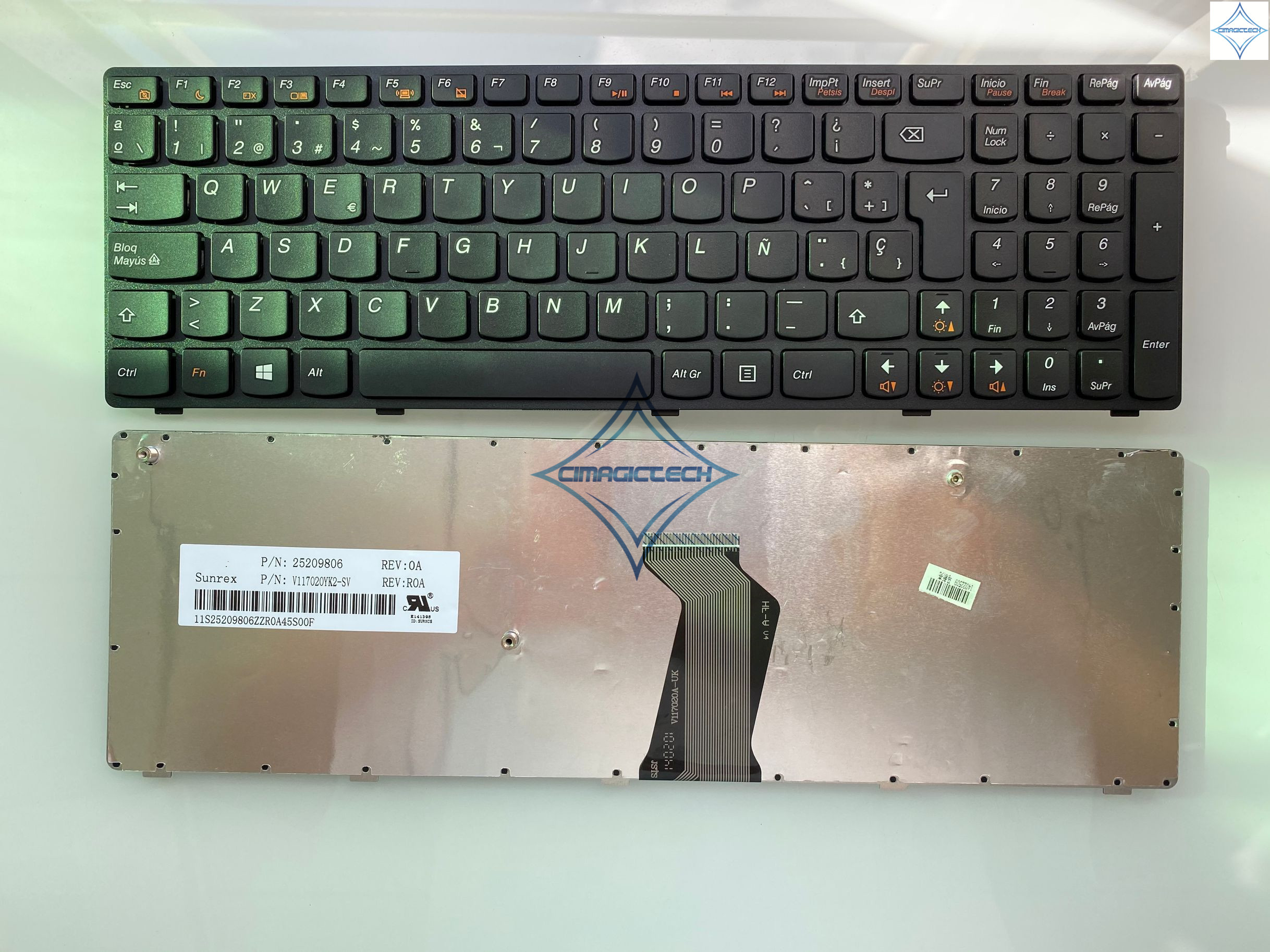 Original new for <font><b>LENOVO</b></font> Ideapad Z570 Z575 B570 B570A <font><b>B575</b></font> V570 B580 B580A SP spanish laptop notebook <font><b>keyboard</b></font> teclado with frame image