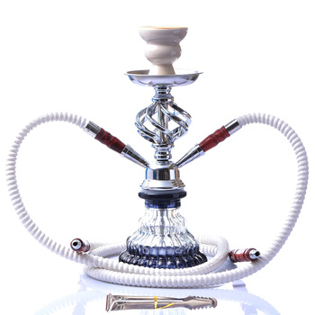 Double Tube Glass Hookah Bar set 1