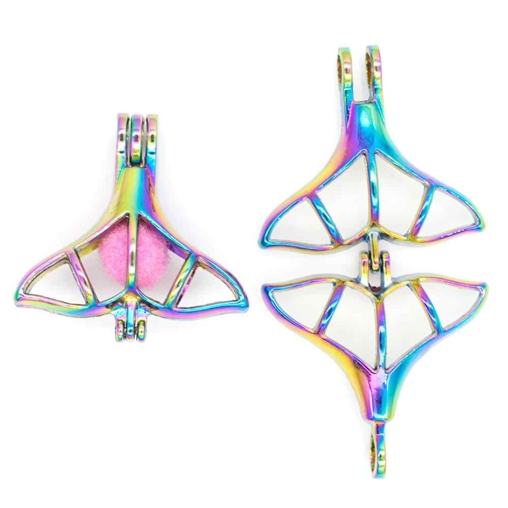 30 Chiếc Hỗn Hợp Rainbow Thiên Thần Cho Bé Hoa Ếch Đính Hạt Ngọc Trai Lồng Mặt Dây Chuyền Máy Khuếch Tán Tinh Dầu Mề Đay Trang Sức Vòng Cổ DIY