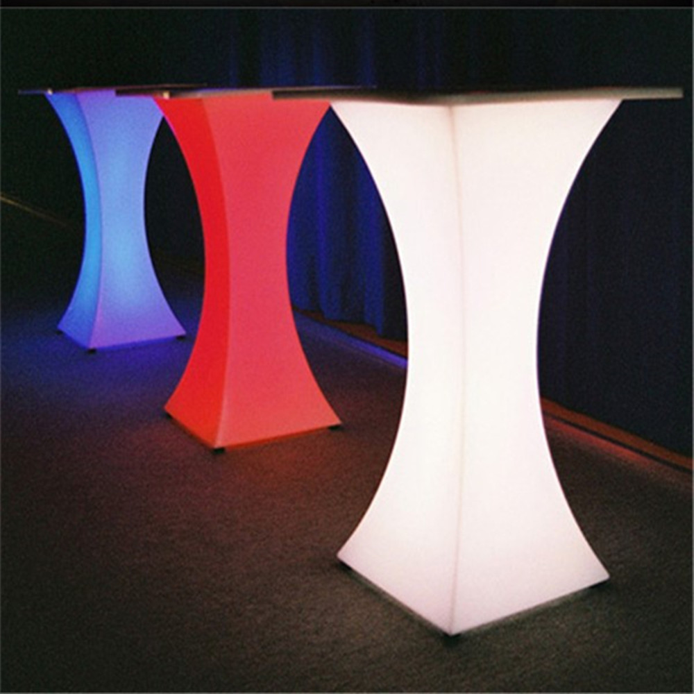 2019 New Rechargeable LED Illuminated Bar Table Club Lighted Up Cocktail Table Ip54 Waterproof With Remote Control