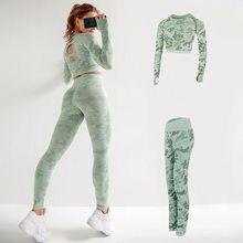 2 iki parçalı Set kadınlar tayt spor giyim Yoga pantolon eşofman egzersiz kıyafetleri kadınlar için spor tulum takımları dikişsiz
