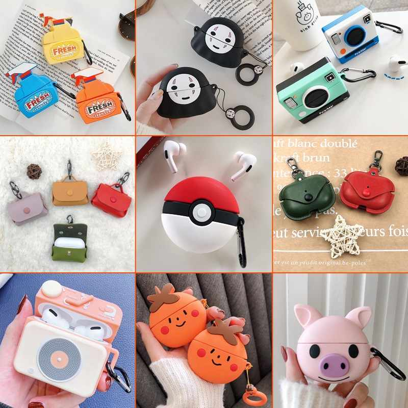 Bluetooth Earphone Case untuk Airpods PRO Headphone Kulit Kotak Lucu untuk Apple Udara Pods 3 Pro Headset Silicone Case Cover fundas