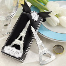 Novedad creativa, artículos de fiesta en casa, Abrebotellas De La Torre Eiffel, recuerdos de boda, caja de regalo packaging1set