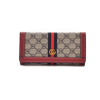New European and American fashion GD letter cross section long paragraph ladies wallet printing multicolor wallet hand bag