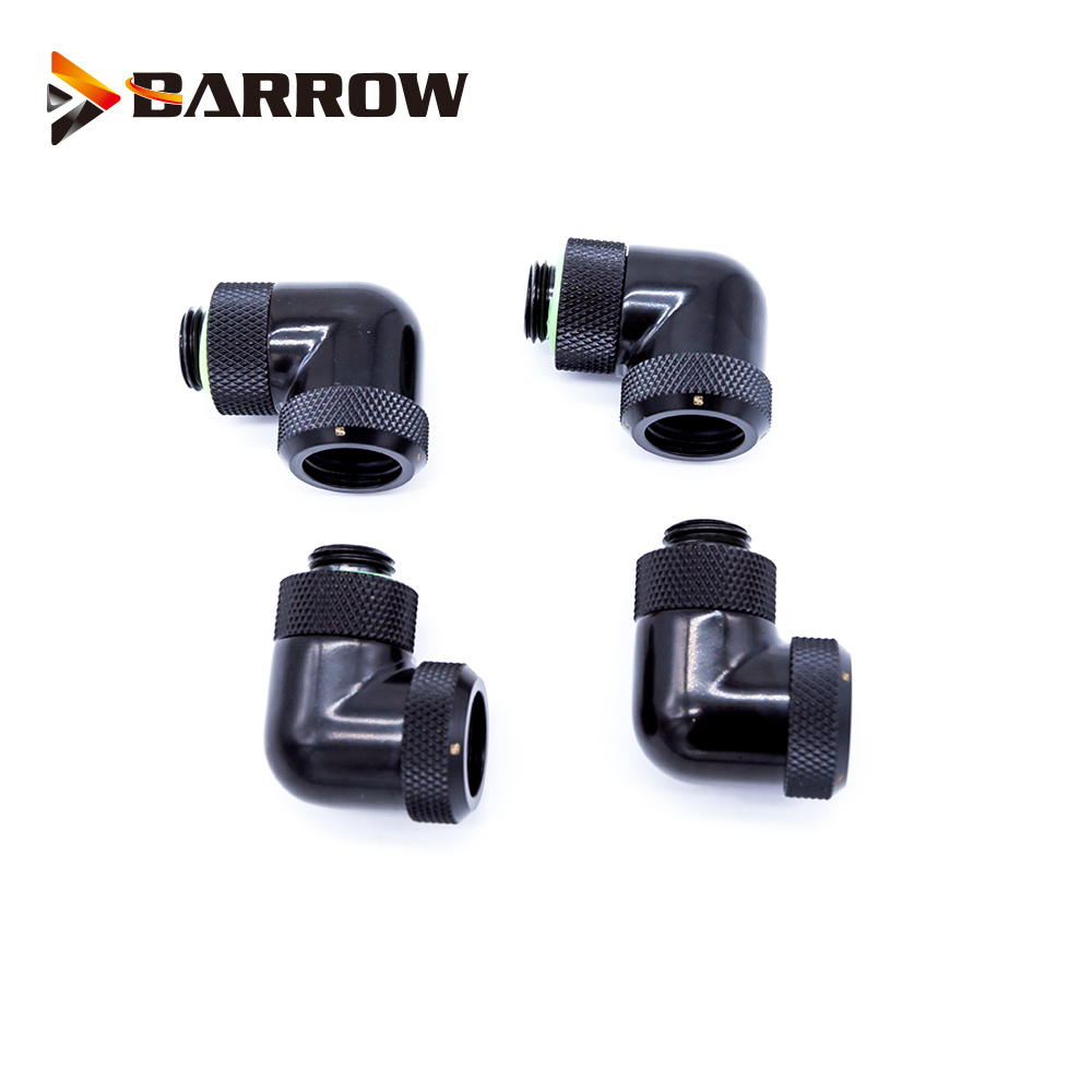 4pcs lots G1 4 39 39 90 Degree OD14mm Hard tube fitting hand compression fitting rotary use for outside 14mm Hard Tube in Fans amp Cooling from Computer amp Office
