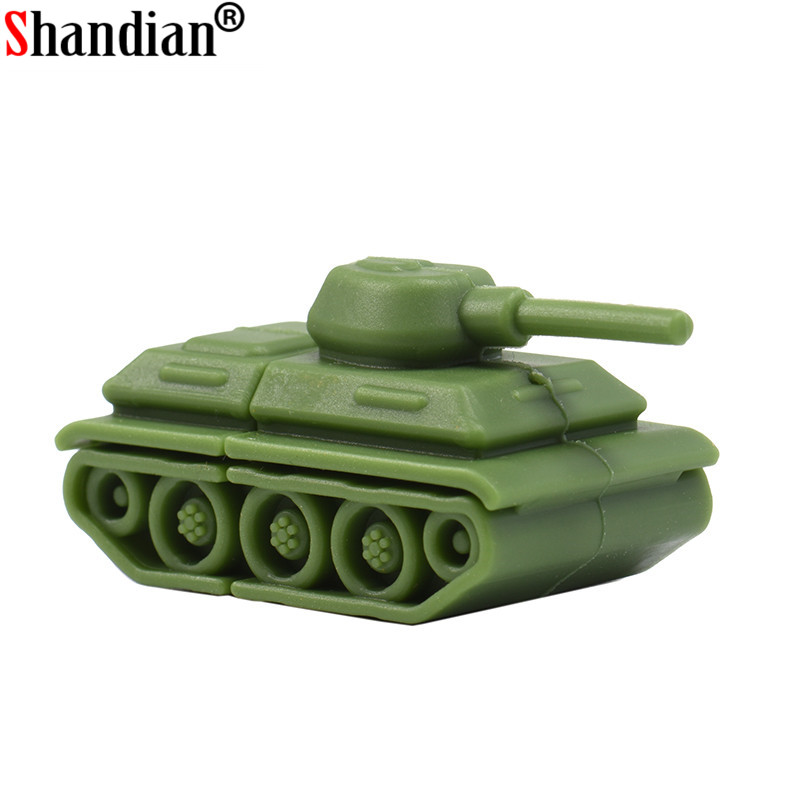 SHANIDAN Toy Tank Usb Flash Drive Pendrive 4GB 8GB 16GB 32GB 64GB Tanks Memory Stick Thumb Drive Pen Disk Memory Pendriver Gift