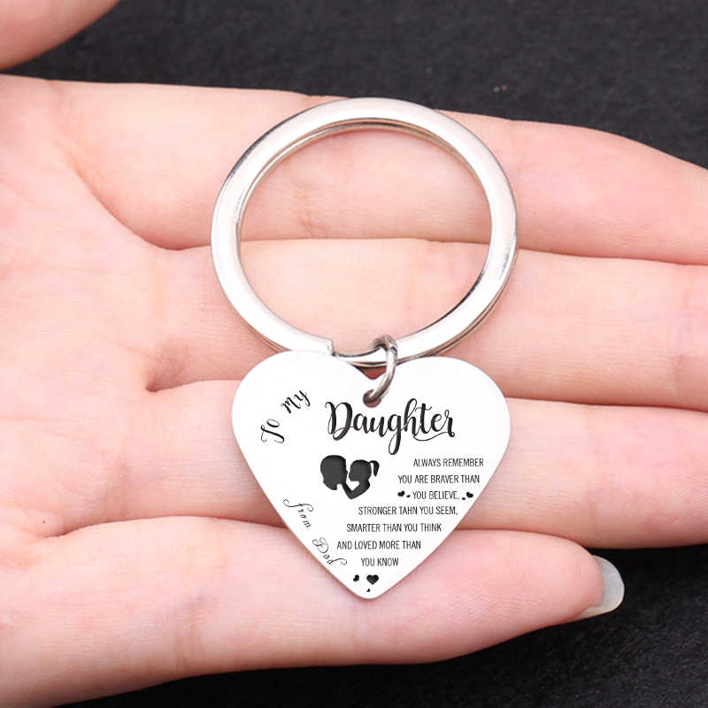 Putri Hadiah untuk Saya Gadis Hadiah Kelulusan Jantung Liontin Gantungan Kunci Wanita Kenang-kenangan Perhiasan Gantungan Kunci Pesona Aksesoris Hadiah