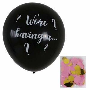 Image 5 - 36 بوصة أسود الجنس تكشف بالون صبي أو فتاة الجنس تكشف بالونات اللاتكس الطرف لوازم الطفل الزينة البالونات