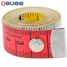 Oauee 1.5m corpo régua de medição costura costureira fita mini medida suave plana régua centímetro costura fita de medição