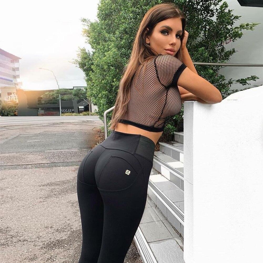 Melody Girls Black Leggings Womens Gym Leggins Best Stretch Pants Skinny Cotton Jeggings Full Body Waist Trainer High Waist 1