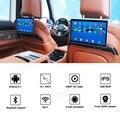 10,1 дюймов Android 9,0 подголовник автомобиля монитор 1080 P HD 1080 P видео сенсорный Экран WI-FI/Bluetooth/USB/SD/HDMI/FM MP5 видео плеер 2,5
