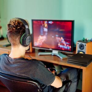 Image 5 - EKSA E1000 USB السلكية سماعات الألعاب 7.1 الظاهري المحيطي المهنية الألعاب سماعة رأس مزودة بميكروفون مصباح ليد ل PS4 PC أخضر رمادي