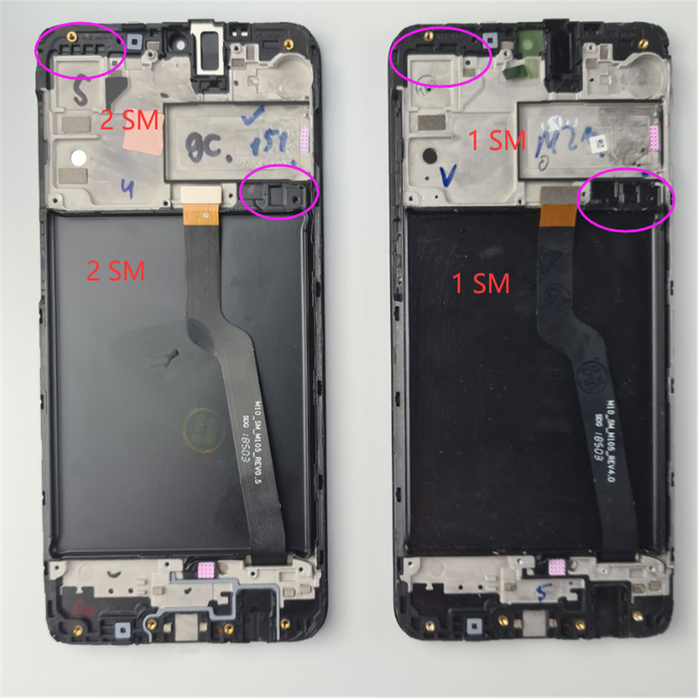 Original For Samsung Galaxy A10 Touch Screen A105 A105F SM-A105F 2019 LCD Digitizer Assembly With Frame Replacement M10 M105 LCD image