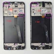 Oryginalny do ekranu dotykowego Samsung Galaxy A10 A105 A105F SM-A105F 2019 LCD Digitizer montaż z ramą wymiana M10 M105 LCD