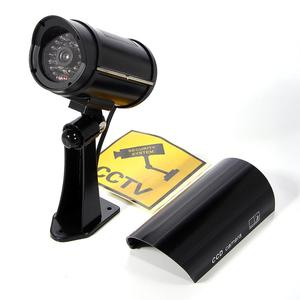 Image 3 - 2 قطعة كاميرا وهمية وهمية مع تحذير ملصق رصاصة مقاوم للماء في الهواء الطلق المراقبة الأمنية cctv كاميرا الأشعة تحت الحمراء LED شحن مجاني
