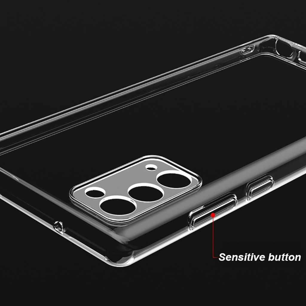 Do obudowy Samsung Galaxy Note 20 Ultra 5G przezroczysta, odporna na wstrząsy, elastyczna obudowa TPU