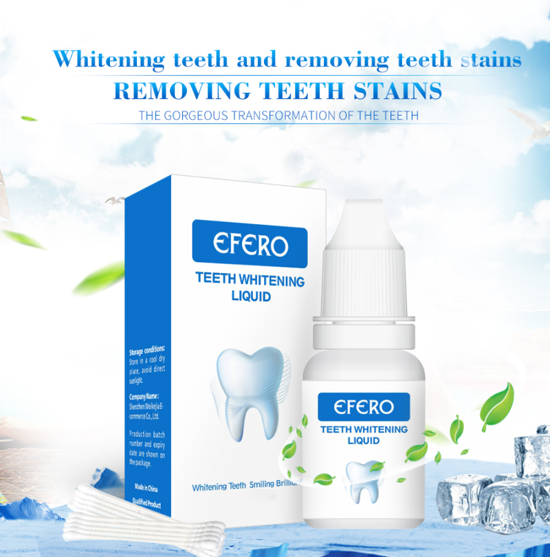 Teeth Whitening Essence Powder Bleaching Oral Hygiene Care Serum Removes Plaque Stains Tool Tooth Whitening Product TSLM2