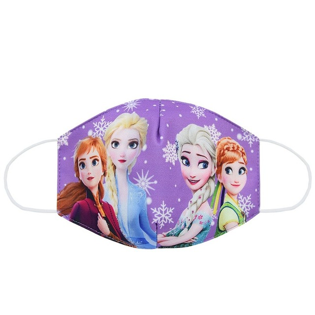 2020 New CartoonDisney Frozen Dust Washable Masks Breath Anti-Dust Pollution Face Mouth Mask Breathable For Children Kid Adult 2