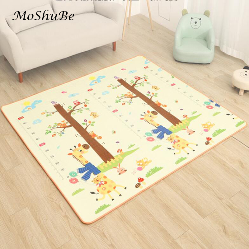 Baby Play Mat Non-Slip Soft Floor Measuring Height Foam Mat Thick Kids Rug For Children's Room Double Sided Climbing Carpet