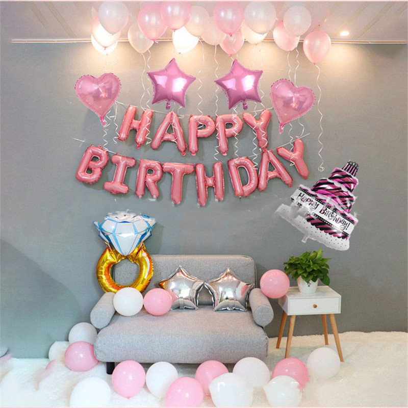 Cake And Ring Theme Baby Party Decorations Set Newborn Baby Girls Birthday Party Baby Shower Party Children's Day